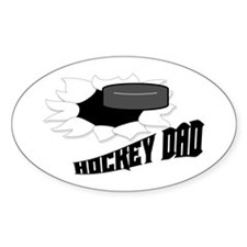 Hockey Dad Oval Decal