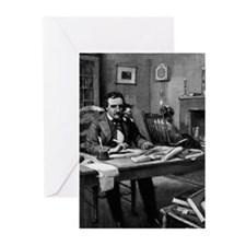 Poe's Study Greeting Cards (Pk of 10)