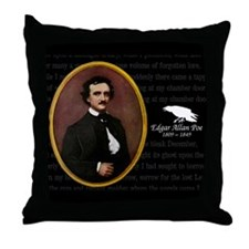 Poe Raven Throw Pillow