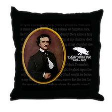 Poe Raven Throw Pillow