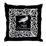 Edgar allen poe raven Throw Pillows