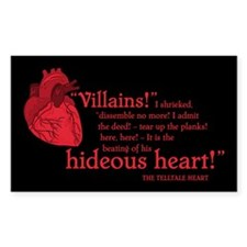 Telltale Heart Rectangle Sticker 10 pk)