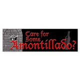 Amontillado Bumper Car Sticker