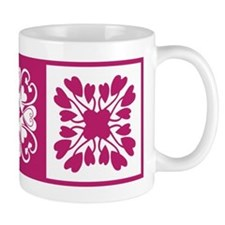 Hearts Hawaiian Quilt Mug