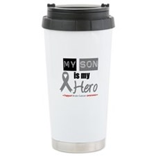 Brain Cancer Son Ceramic Travel Mug