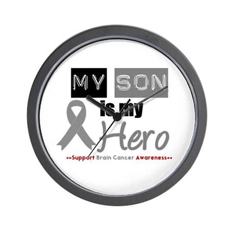 Brain Cancer Son Wall Clock
