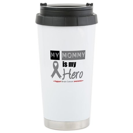 Brain Cancer Mommy Ceramic Travel Mug