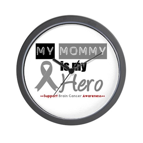 Brain Cancer Mommy Wall Clock