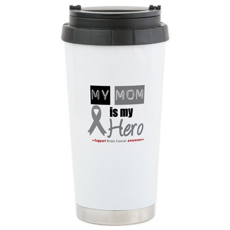 Brain Cancer Mom Ceramic Travel Mug
