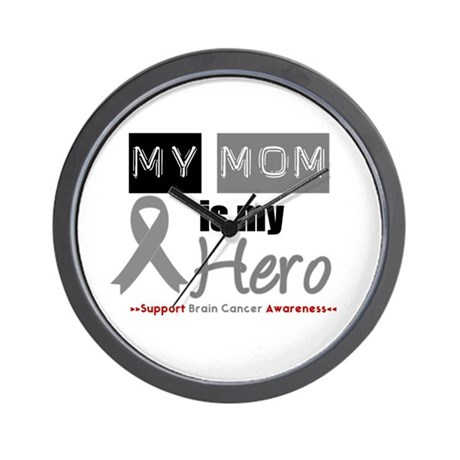Brain Cancer Mom Wall Clock