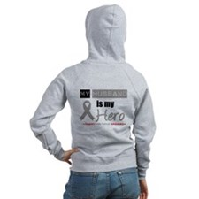 Brain Cancer Husband Zip Hoodie