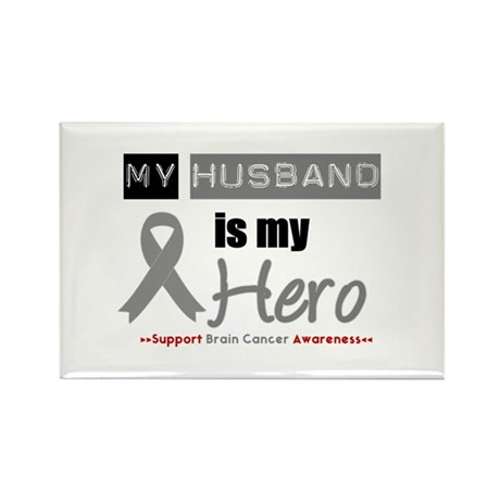 Brain Cancer Husband Rectangle Magnet