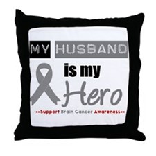 Brain Cancer Husband Throw Pillow