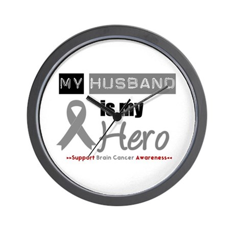 Brain Cancer Husband Wall Clock