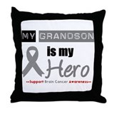 Brain Cancer Grandson Throw Pillow