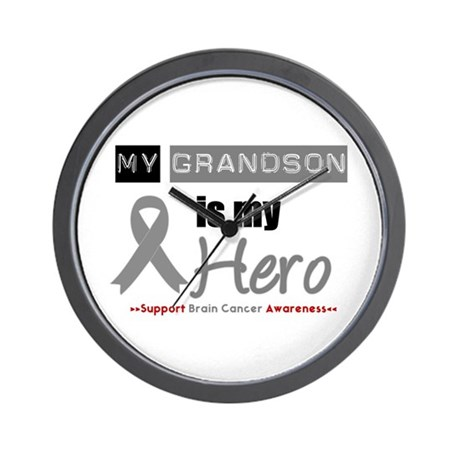 Brain Cancer Grandson Wall Clock