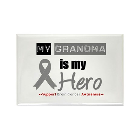 Brain Cancer Grandma Rectangle Magnet