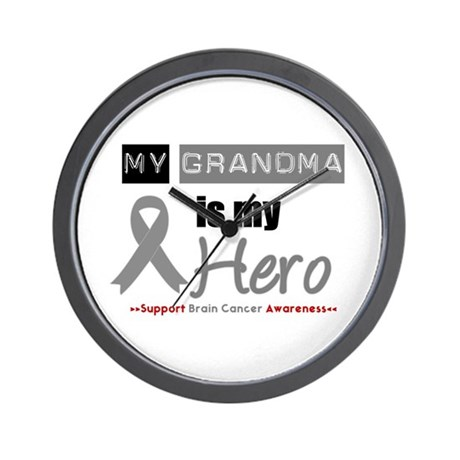 Brain Cancer Grandma Wall Clock