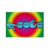 Rainbow PEACE Rectangle Magnet (100 pack)