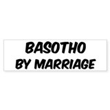 Basotho by marriage Bumper Sticker (50 pk)