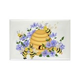 Honey Bee Dance Rectangle Magnet