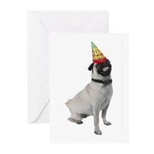 Pug Birthday Cards (Pk of 10)