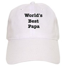 Worlds Best Papa Baseball Cap