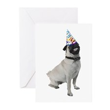 Pug Party Greeting Cards (Pk of 10)