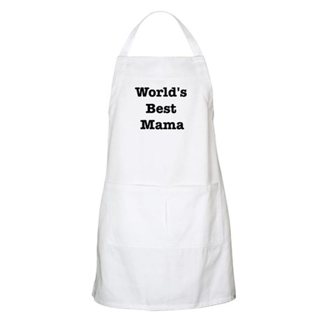 Worlds Best Mama BBQ Apron
