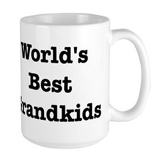 Worlds Best Grandkids Large Mug