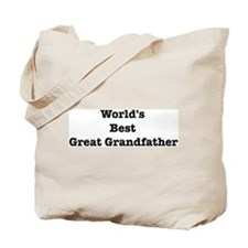 Worlds Best Great Grandfather Tote Bag