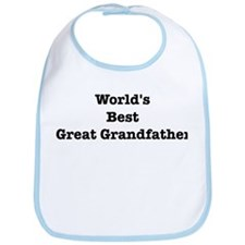 Worlds Best Great Grandfather Bib