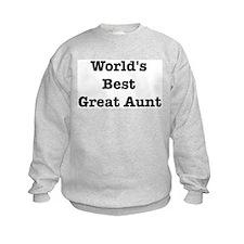 Worlds Best Great Aunt Sweatshirt