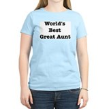 Worlds Best Great Aunt T-Shirt