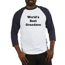 Worlds Best Grandson Baseball Jersey