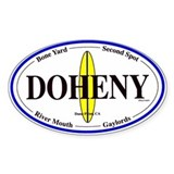 Doheny Surf Spots Oval Decal