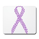 Purple Footprints Mousepad