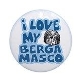 I Love my Bergamasco Ornament (Cartoon)