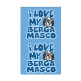 I Love my Bergamasco Sticker (Cartoon)
