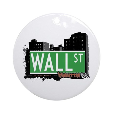 WALL STREET, MANHATTAN, NYC Ornament (Round)