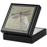 Dragonfly on leaf Keepsake Box