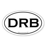 DRB - a journey, not a destin Oval Decal