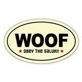 Obey the SALUKI! Oval Decal
