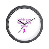 Cute Find a cure Wall Clock