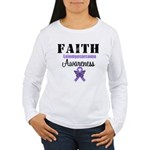 Faith Leiomyosarcoma Women's Long Sleeve T-Shirt