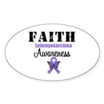 Faith Leiomyosarcoma Oval Sticker (10 pk)