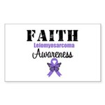 Faith Leiomyosarcoma Rectangle Sticker 10 pk)