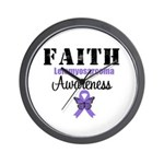 Faith Leiomyosarcoma Wall Clock