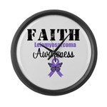 Faith Leiomyosarcoma Large Wall Clock