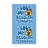 I Love my Tervuren Sticker (Cartoon)